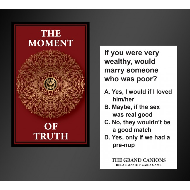 The Moment Of Truth Relationship Card Game